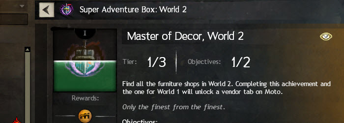 GW2 Master of Decor World 2 Achievement Guide