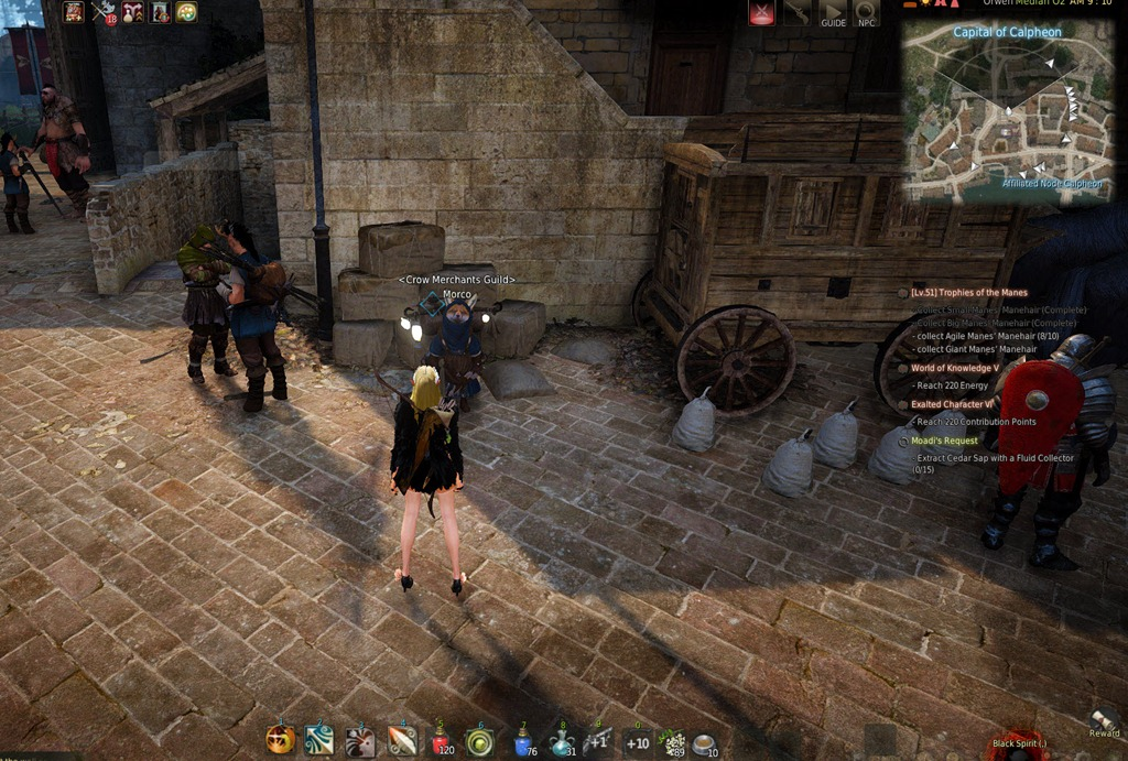 how to hold items night vendor bdo