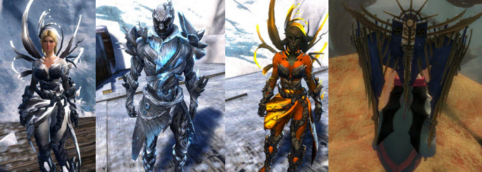 GW2 Verdant Executor Outfit and Shining Blade Backpack/Glider