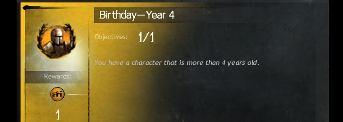 GW2 Fourth Birthday Gift Details
