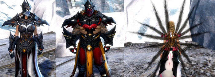 GW2 Musaat Robes, Backpack and Glider
