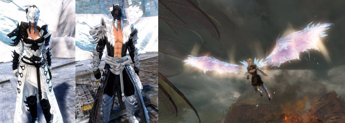 GW2 Braham's Wolfblood Outfit and Crystalline Dragon Glider