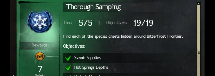 GW2 Thorough Sampling A Crack in the Ice Achievement Guide