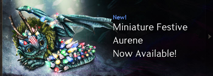 GW2 Mini Festive Aurene Now available in Gemstore