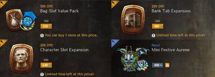 GW2 New Years Gemstore Sale
