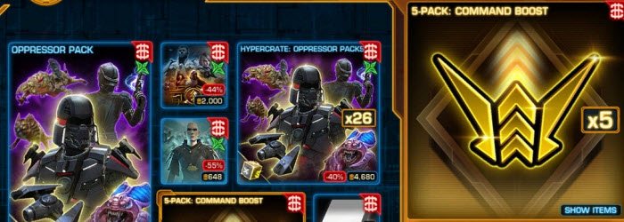 SWTOR Galactic Command Boosts are now available on CM