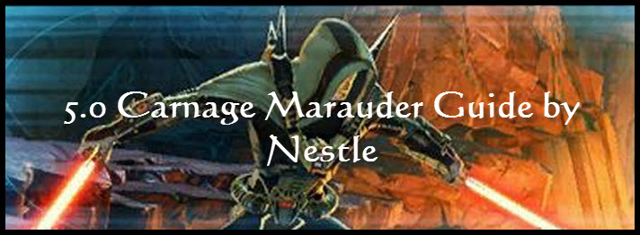 SWTOR 5.0 Carnage Marauder PvE Guide by Nestle