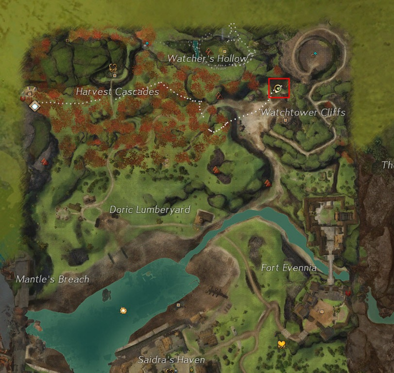 how to show achievement item on the map gw2