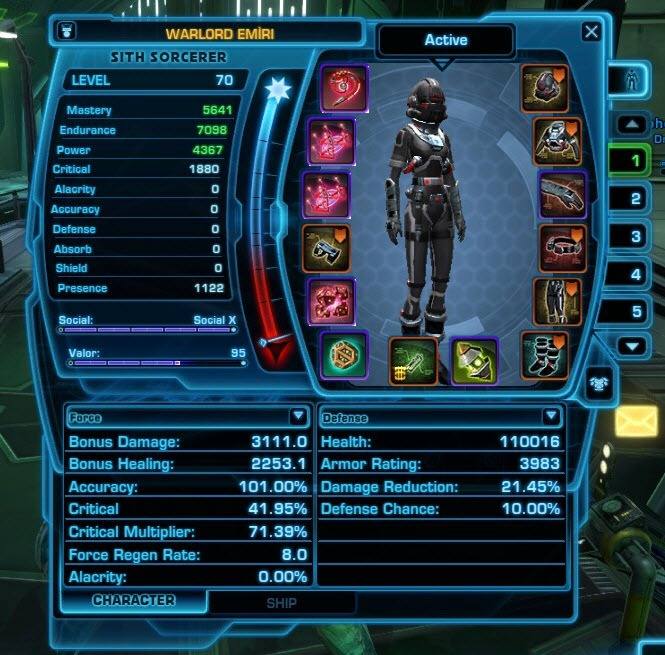 Swtor  X Sith Sorcerer Build