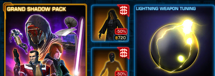 SWTOR CM Weekly Sales Grand Shadow Pack and Grand Companion Pack now available