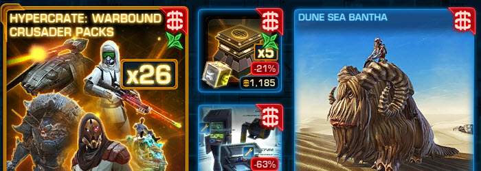 SWTOR CM Weekly Sales April 25 – May 2