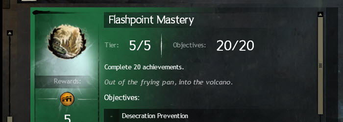 GW Flashpoint Living World Achievements Guide