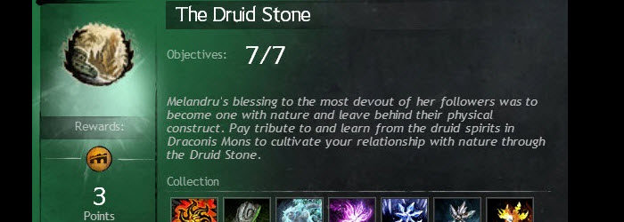 GW2 Druid Stone Achievements Guide