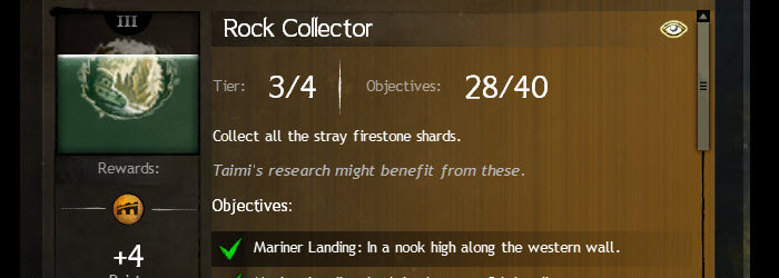 GW2 Rock Collector Firestone Shard Achievement Guide