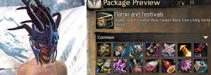 GW2 Gemstore Update–Flame and Festival Box and Abaddon's Mask