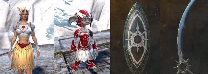 GW2 Spearmashal Weapon Skins and Sunspear Outfit