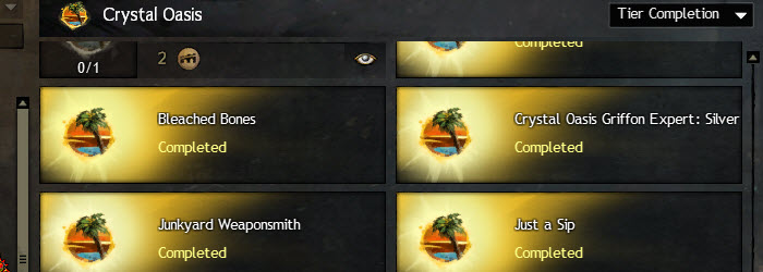 GW2 Crystal Oasis Achievements Guide