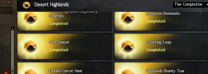 GW2 Desert Highlands Achievements Guide