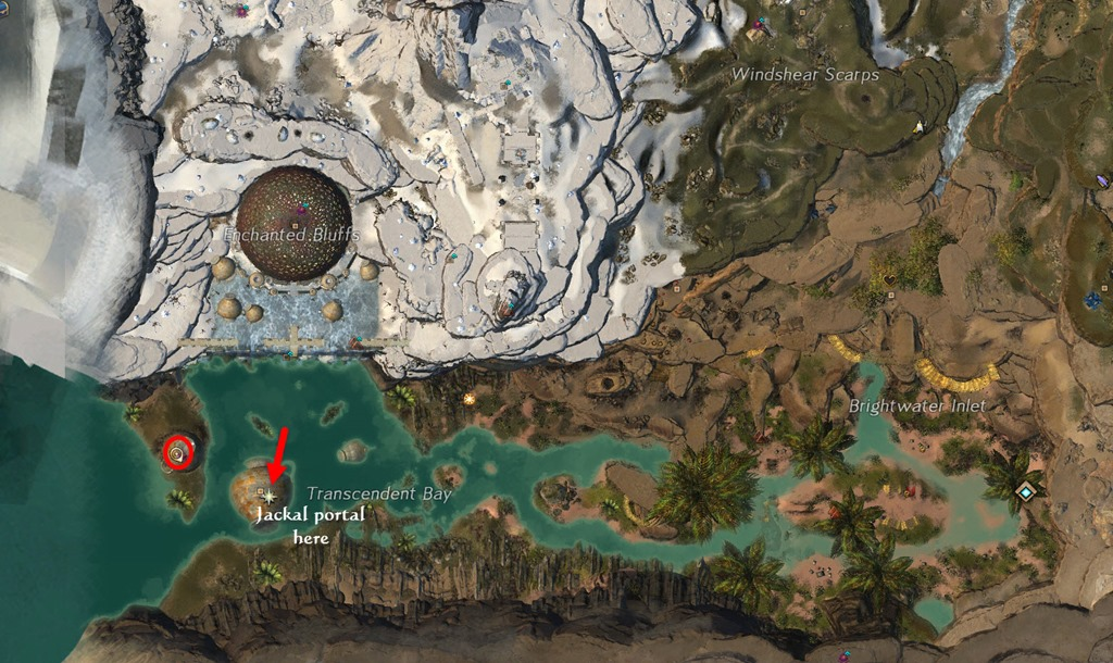 gw2 how to get to sand jackal run