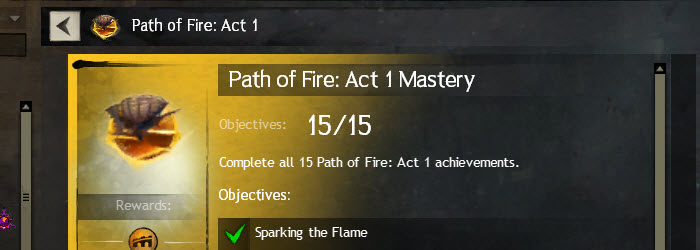 GW2 Path of Fire Act 1 Story Achievements Guide