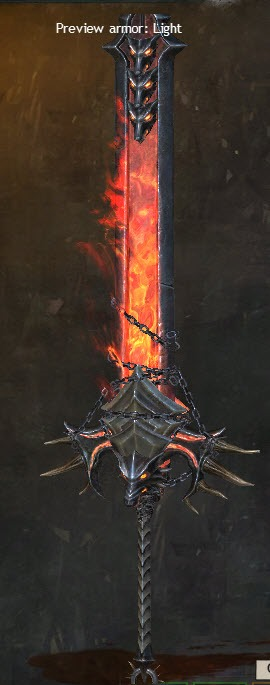 Weapon Gw2 War Flaming Great Sword