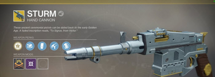 Destiny 2 Sturm Exotic Weapon Guide