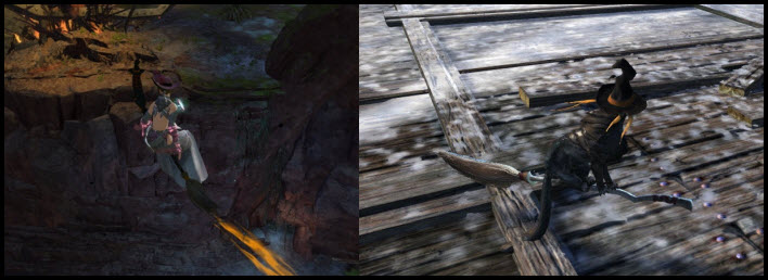 GW2 Gemstore–Riding Broom Glider and Mini Elonian Familiar