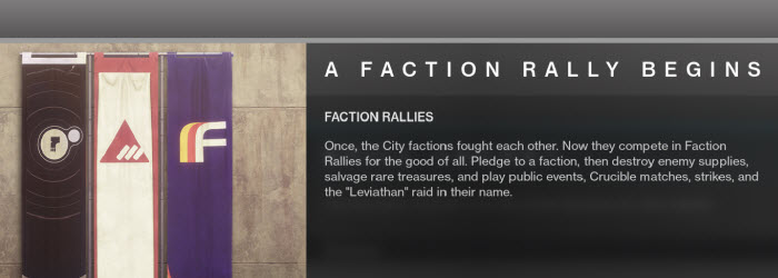 Destiny 2 Faction Rally Event Guide