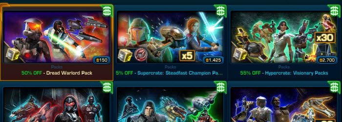 SWTOR Cartel Market Hypercrates 55% OFF for Black Friday