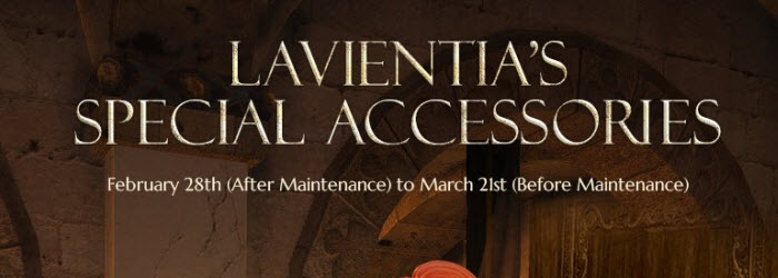 Black Desert Lavientia's Accessories Event Feb 28 to March 21