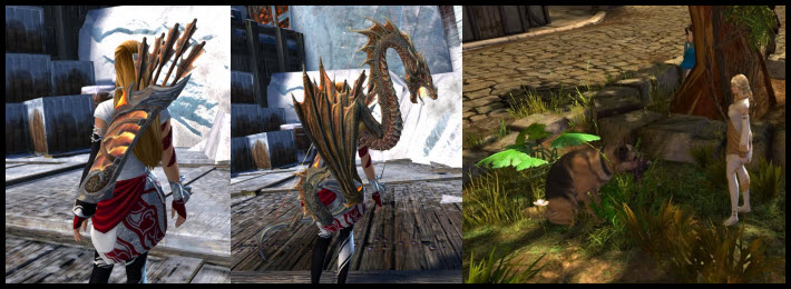GW2 Gemstore–Lucky Dog Harvest Tool & Fire Breathing Bow/Quiver