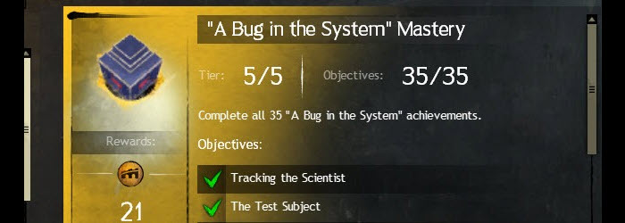 GW2 A Bug in the System Achievements Guide