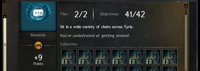 GW2 Chairs of the World Achievement Guide