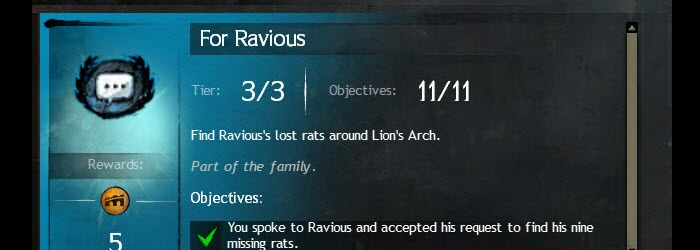GW2 For Ravious Lost Rats Achievement Guide