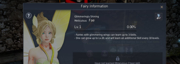 Black Desert Fairy Companion Guide - Dulfy