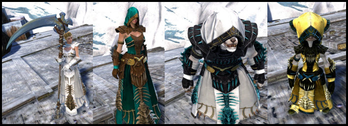 GW2 Gemstore Update–Primeval Dervish Outfit and Suntouched Scythe