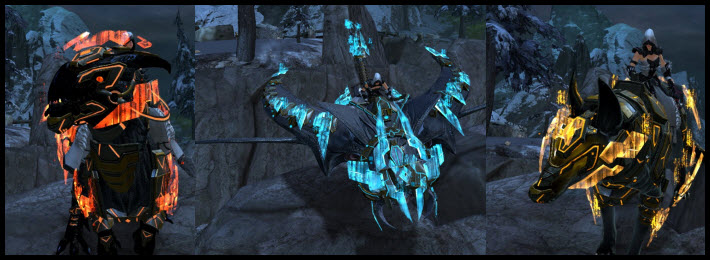GW2 Gemstore Update–Exo-Suit Mounts Pack