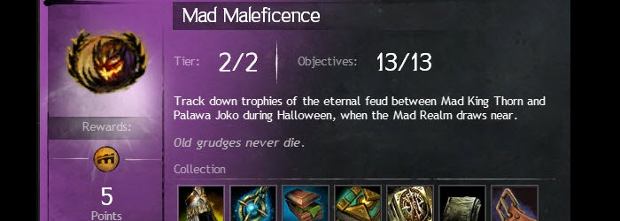 GW2 Mad Maleficence Collection Guide