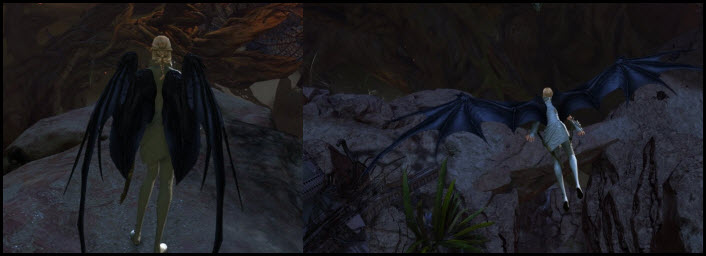 GW2 Gemstore Update–Scaled Dragon Wings Backpack Glider Combo