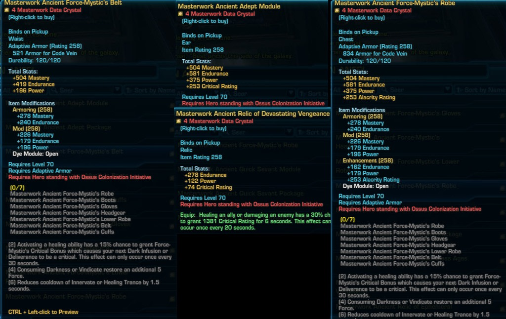 Crafting Mods In Swtor