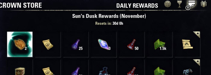 ESO Daily Login Rewards for November–Free Murkmire DLC