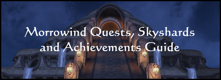 ESO Morrowind Vvardenfell Quests, Skyshards and Achievements Guide