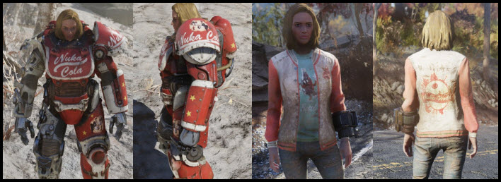 Fallout 76 Nuka Cola Outfit and Power Armor Paint Job Guide