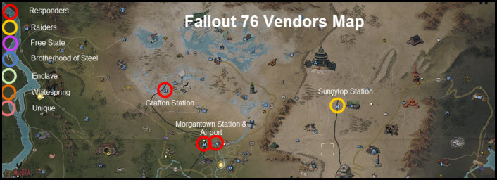 Fallout 76 Vendors Locations and Factions Guide
