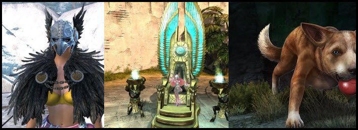 GW2 Gemstore Update–Raven Helm/Mantle and Desert King Throne
