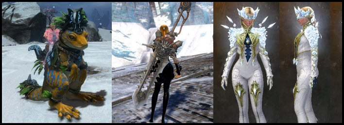GW2 Gemstore –Sun Temple Gecko Springer & Iron Beast Greatsword