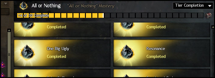 GW2 All or Nothing and Thunderhead Peaks Achievements Guide