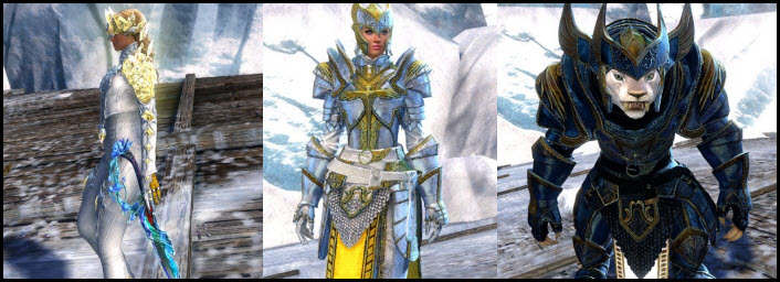 GW2 Gemstore –Caithe Crystal Sword and Logan Pact Marshal Outfit