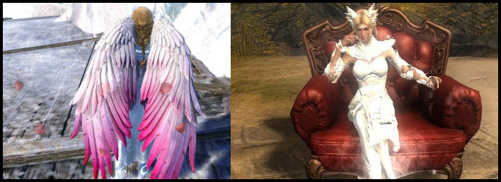 GW2 Gemstore–Wings of Love Glider Combo and Club Chair