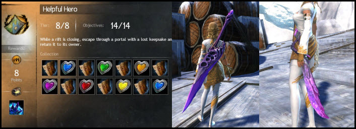GW2 Helpful Hero Current Events and Riftstalker Weapons Guide